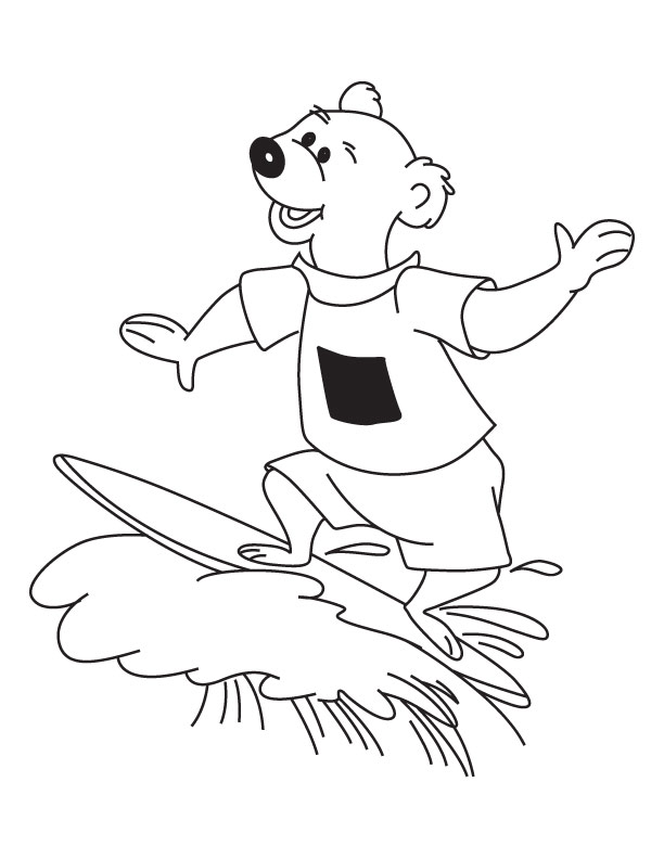 surfing coloring pages printable - photo#30