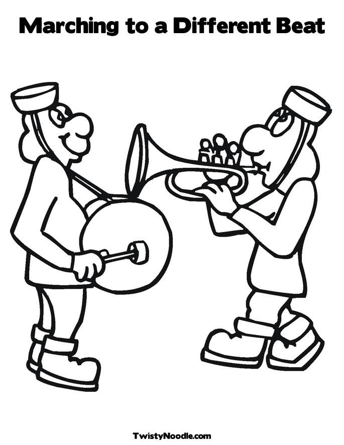 marching band coloring pages abstract - photo#10