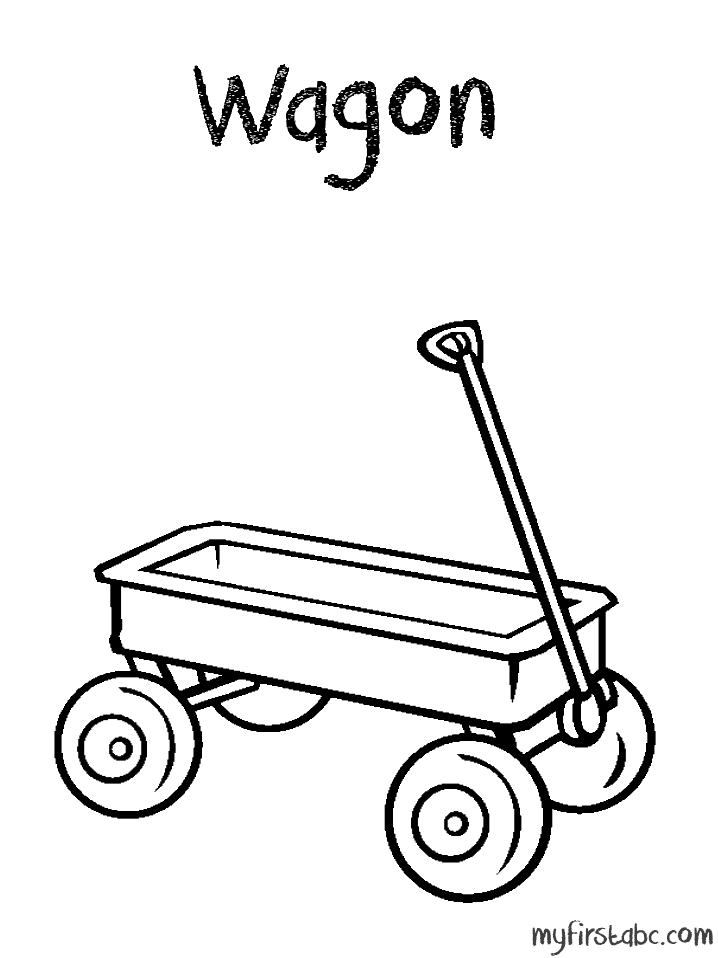 Wagon coloring page az coloring pages for Wagon coloring pages