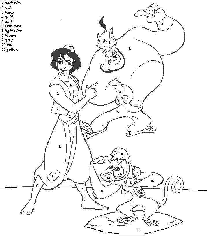 Color By Number Coloring Pages Page