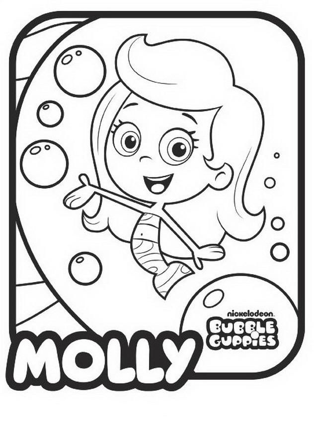 Bubble Guppies Coloring Book Coloring Home Guppies Coloring Book