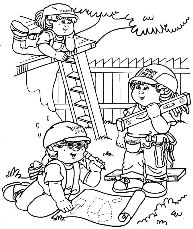 coloring pages kids playing - photo#13