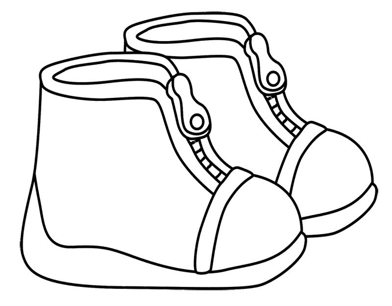 Winter Boots Are Illustrated Coloring Page - Winter Coloring PagesWinter Boots Coloring Pages