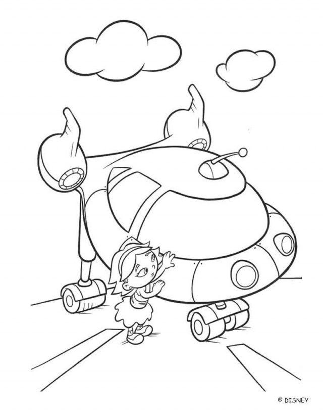 June And Rocket Little Einstein Coloring Pages 175801 Madeline