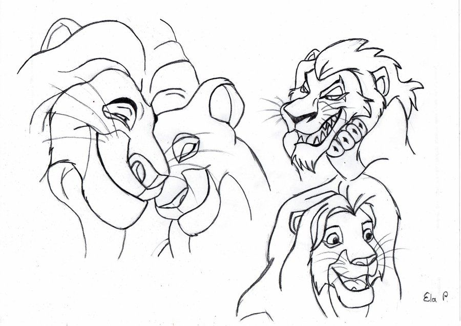 Ze Lion King sketches part 2 by NostalgiaAttack on deviantART