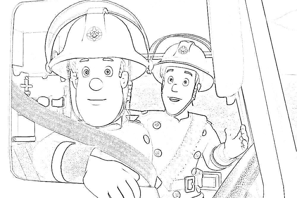 Fireman sam coloring pages to print coloring home for Firefighter coloring pages printable