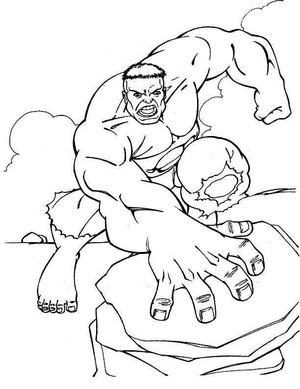 Hulk Coloring Page Avengers Get This Pages Marvel 27588