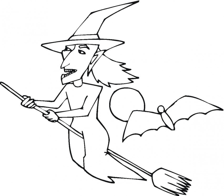 Free Printable Witch Coloring Pages For Kids Sweet Coloring 211563