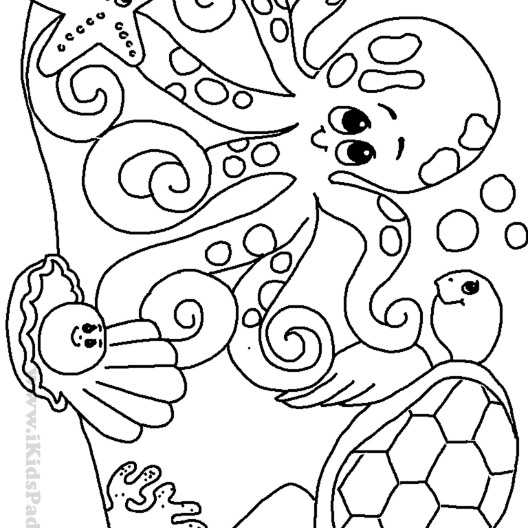 sea creature coloring pages for kids coloring home