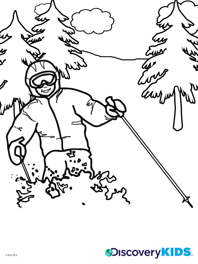 Skiing Coloring Page Coloring Home Skiing Coloring Pages