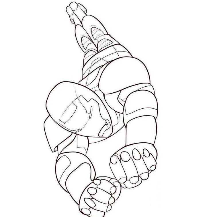 Download Flying Iron Man Coloring Pages For Kids Or Print