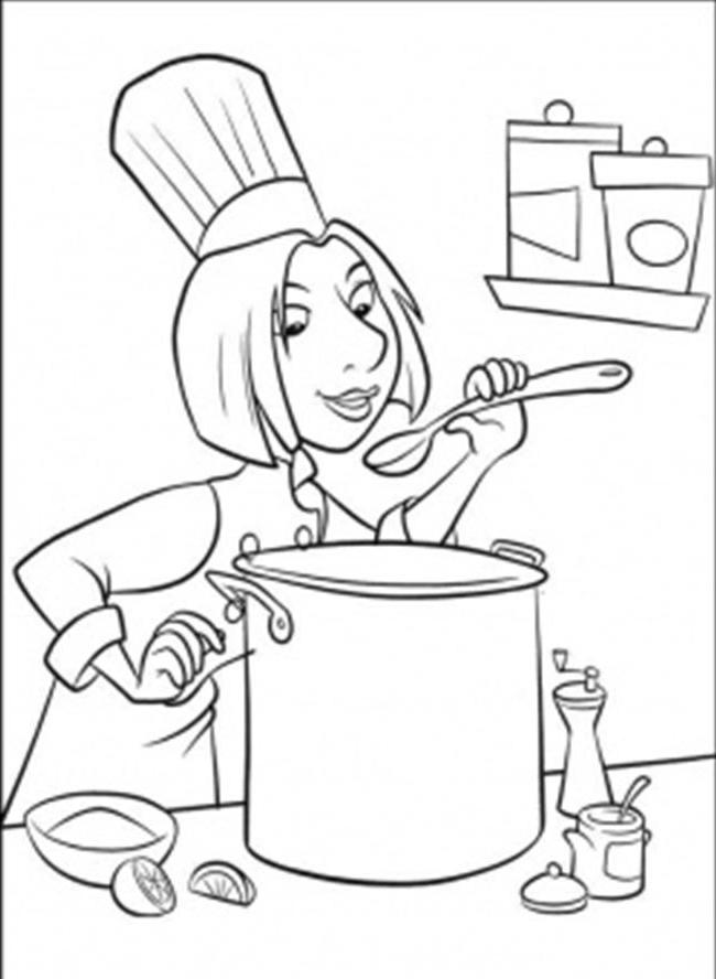 Soup Coloring Pages Soup Coloring Page