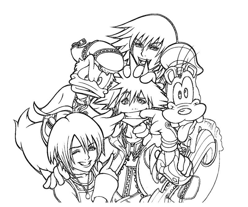 Kingdom Hearts 2 Coloring Pages Az Coloring Pages Kingdom Hearts Coloring Page