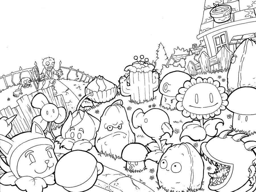 Coloring Pages For Plants Vs Zombies : Free coloring pages of zombie pvz