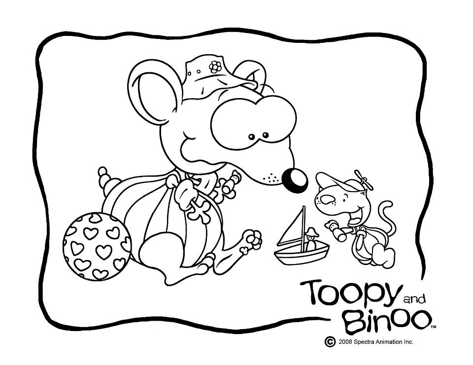 Toopy And Binoo Coloring Pages Coloring Home Toopy And Binoo Colouring Pages