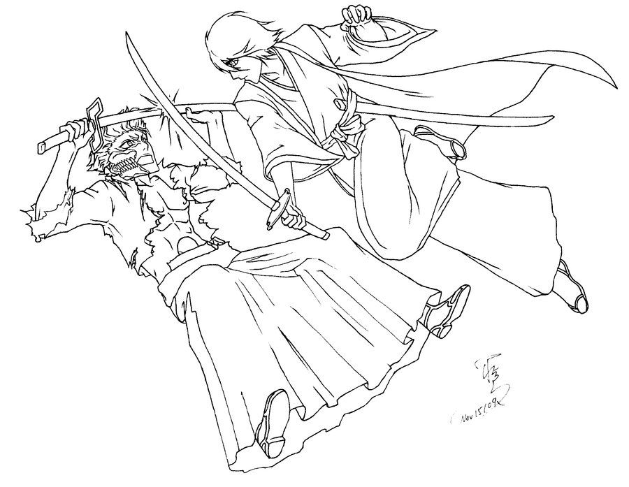 bleach coloring book pages - photo#1