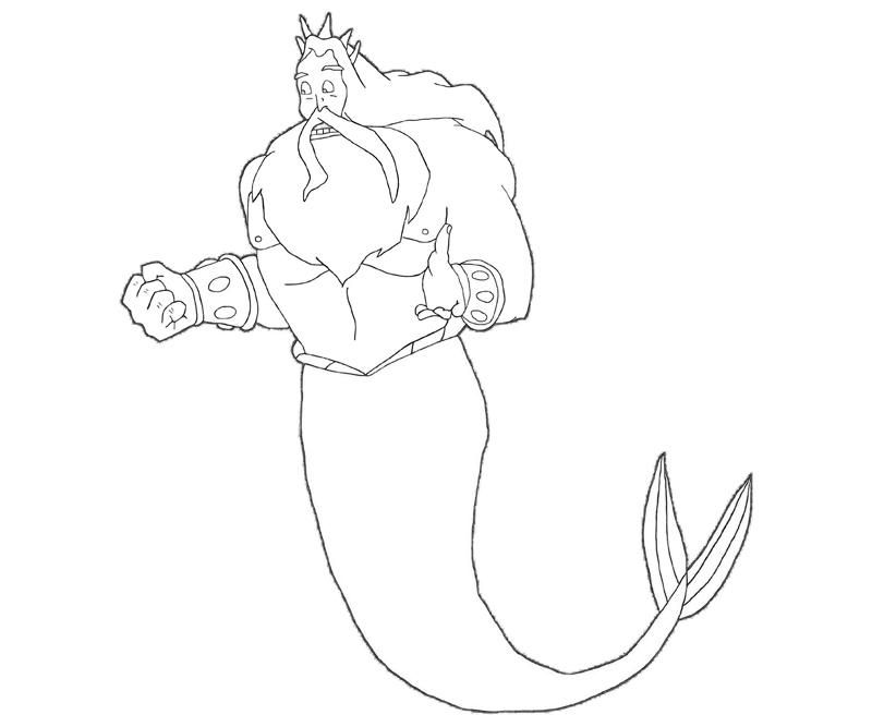 king triton coloring pages - photo#6