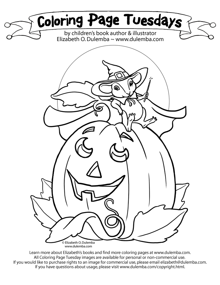 dulemba: Coloring Page Tuesday! - Pumpkin Mouse