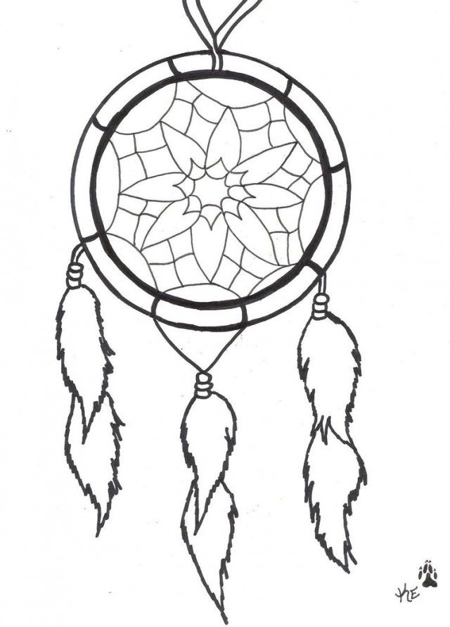 Dream Catcher Tattoo Drawing And Coloring For Kids 256693