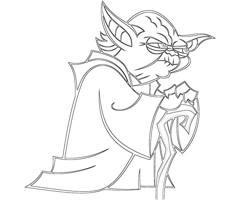 Line Drawing Yoda : Yoda coloring page home