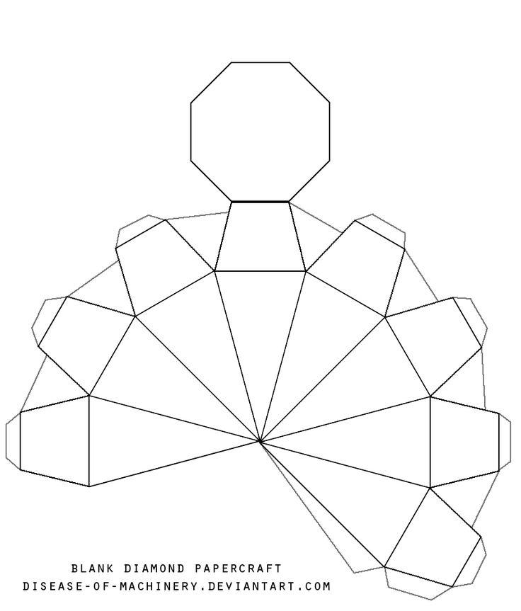 photograph about Diamond Template Printable named Printable Diamond Template - Coloring Residence