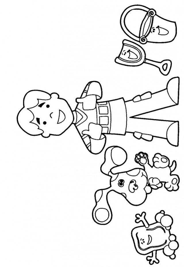 blues clues coloring pages online - photo#6