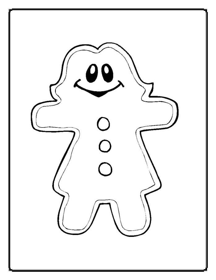 gingerbread girl coloring pages free printable coloring pages - Gingerbread Girl Coloring Page