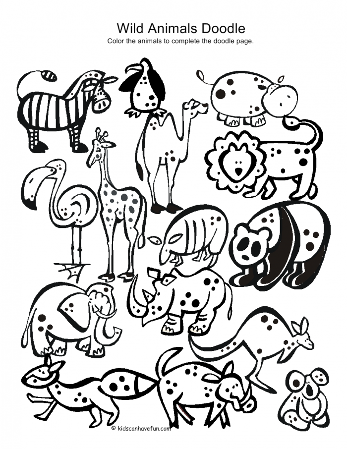 wild kids coloring pages - photo#28