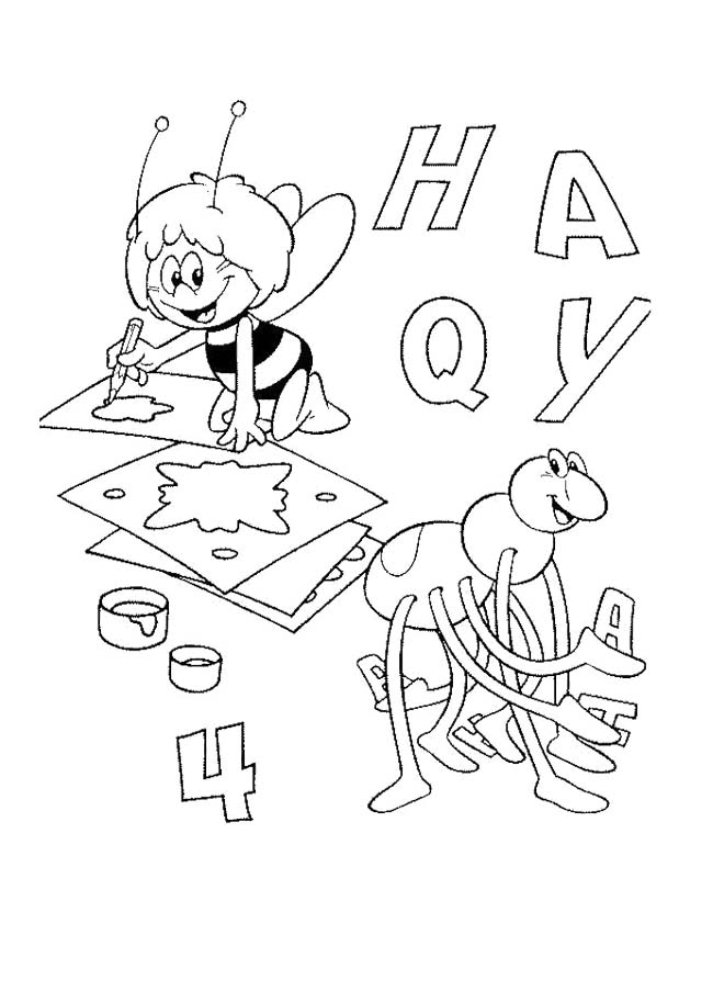 Printable Maya The Bee Coloring
