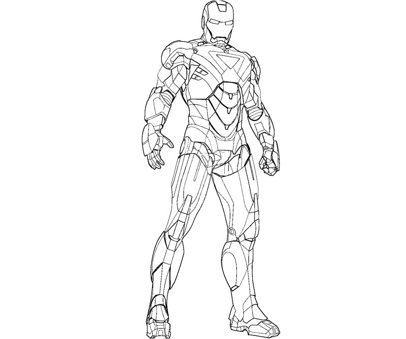 Ironman Coloring Pages For Kids - Coloring Home
