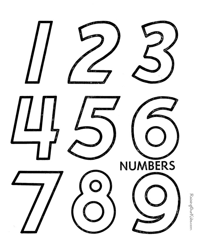 Preschool Number Coloring Pages Az Coloring Pages Numbers Coloring Pages