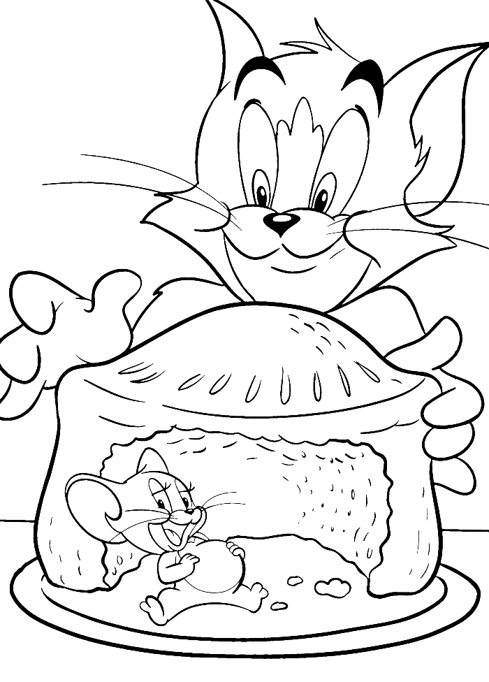 tom 46 jerry coloring pages - photo#36