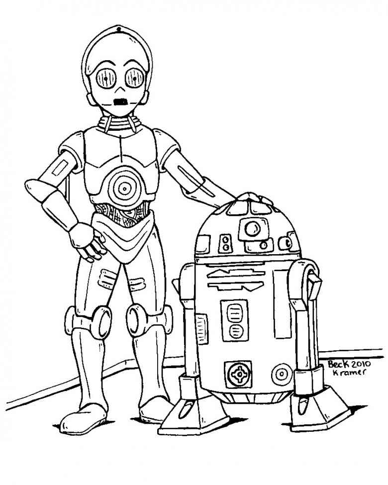 Printable Star Wars Coloring Pages: R2d2 Coloring Pages