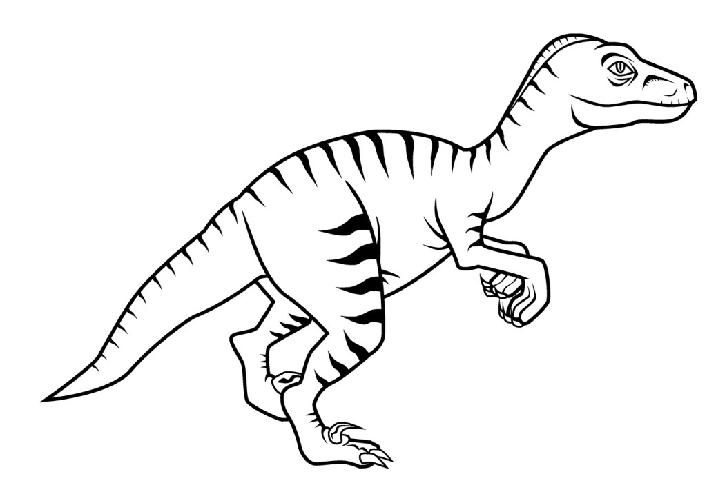 dinosaur coloring pages velociraptor sounds - photo#1