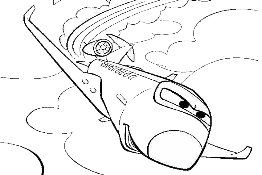 Coloring In Cars Coloring Pages From The 2 Movies Made By Lightning Mcqueen Coloring Page