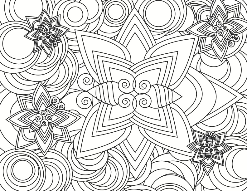Coloring Pages To Print Designs : Abstract coloring pages for adults az