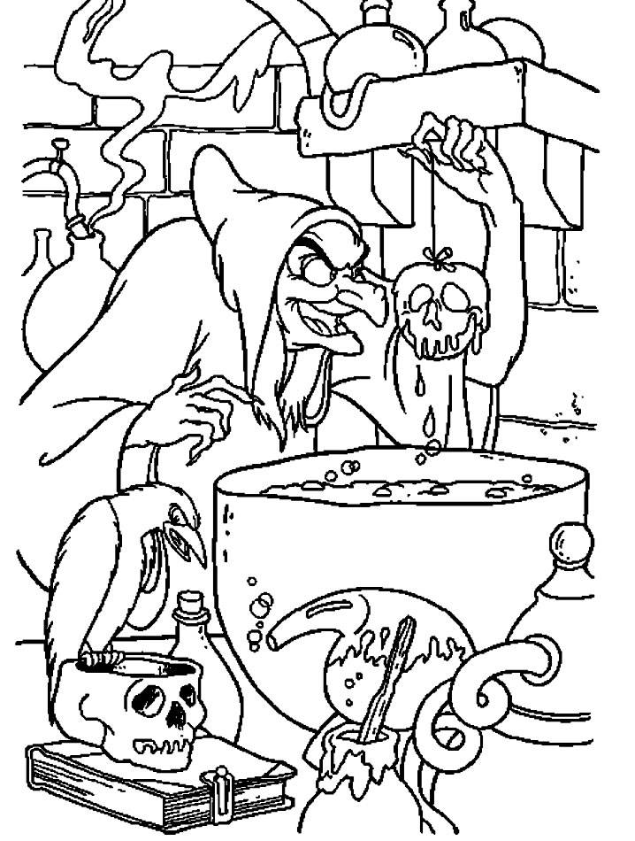 Coloring pages snow white and the seven dwarfs - picture 4