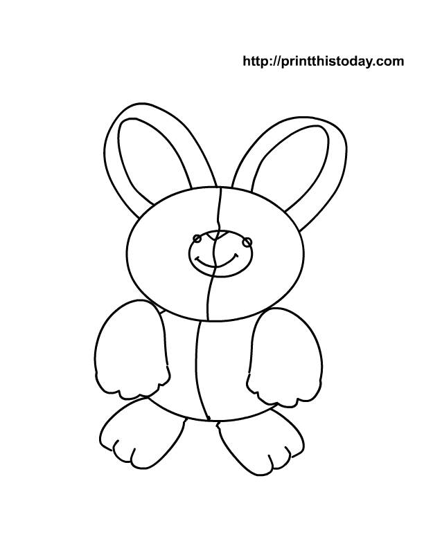Very Cute Bunny Colouring Pages - AZ Coloring Pages