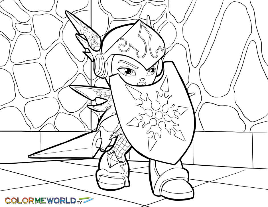 Skylanders Chill Coloring Page Free Color Download