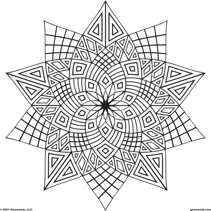 coloring pages for adults geometric - photo#1
