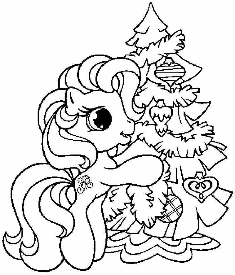 pinkie pie and christmas tree coloring pages disney coloring