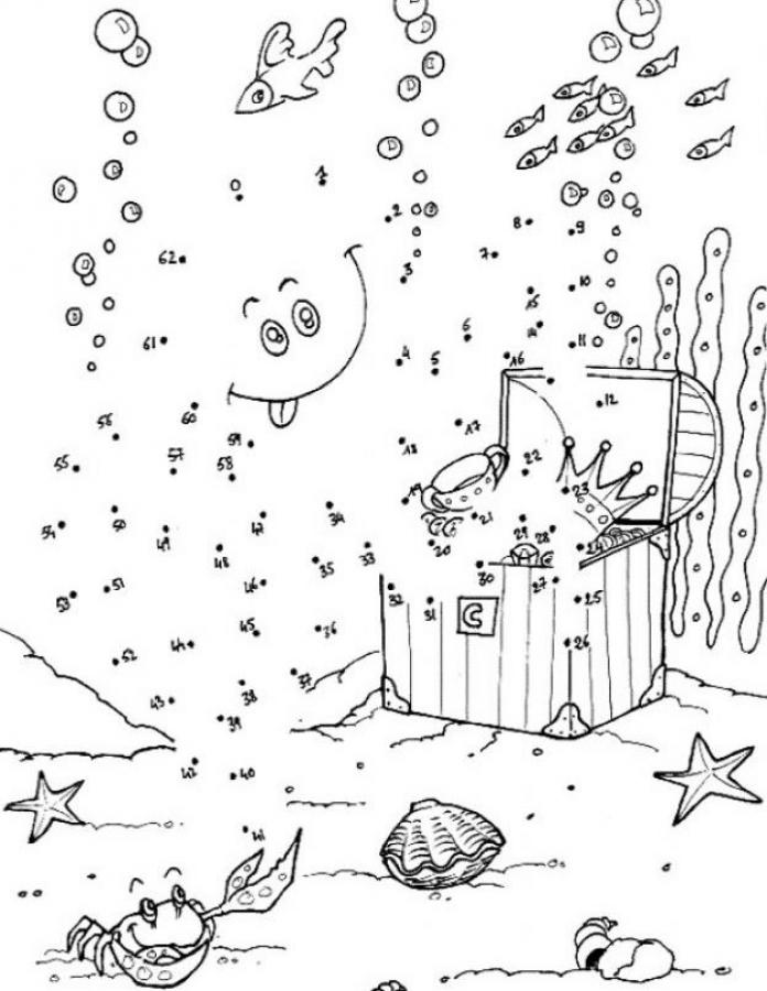 100 Dot To Dot Coloring Home