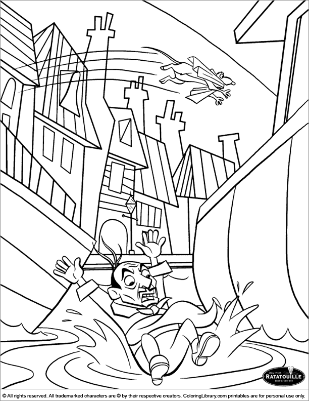 coloring pages ratatouille - photo#24