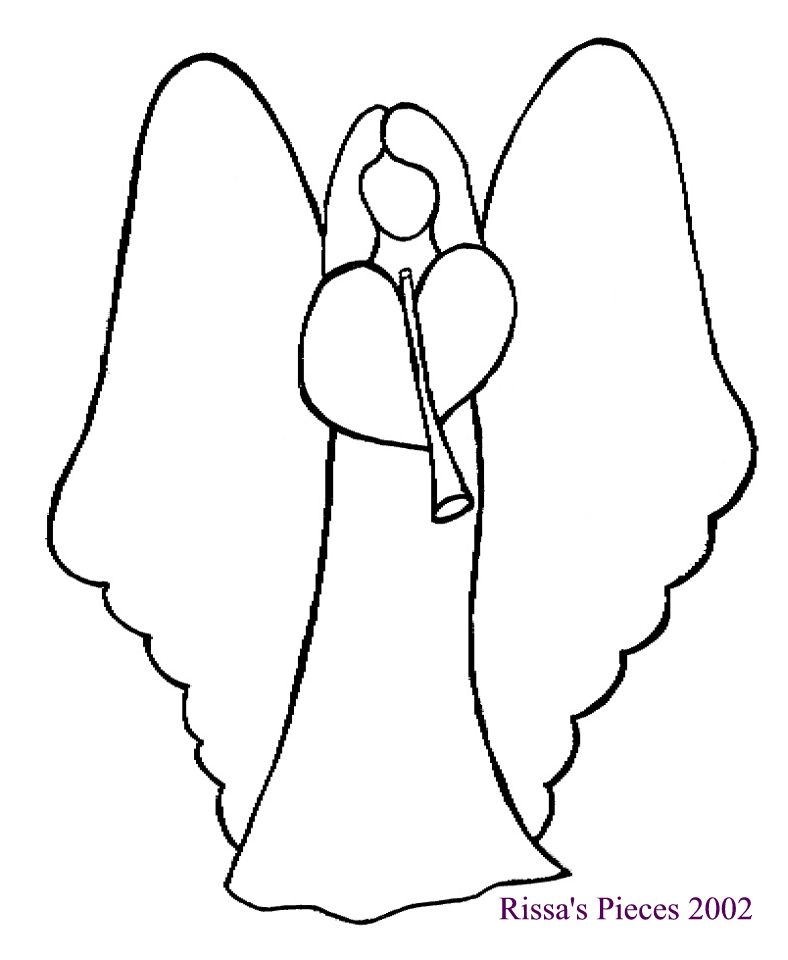 D Shape Line Drawings : Free angel quilt patterns