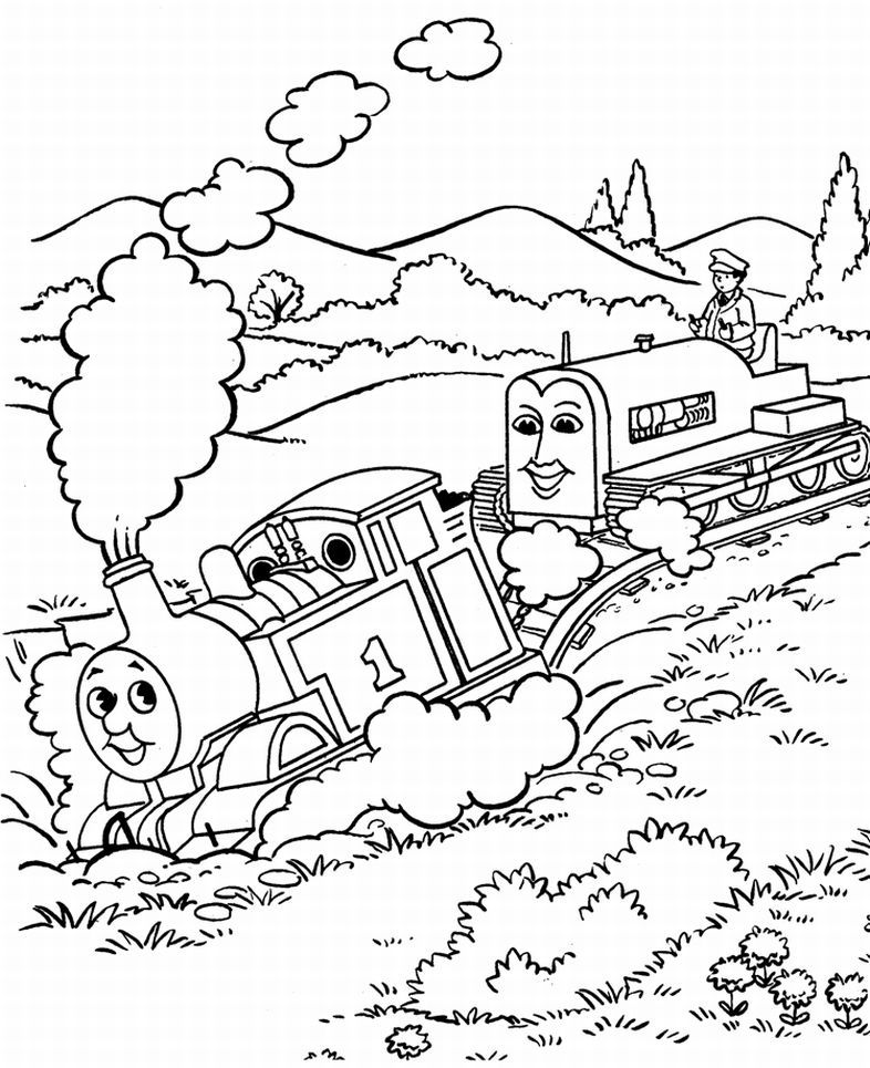 Thomas Color Pages Coloring Home