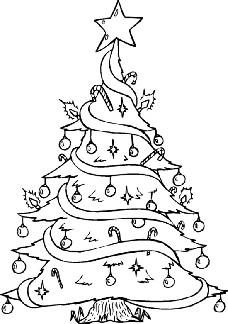 coloring pages of christmas trees coloring pages - Christmas Trees Coloring Pages