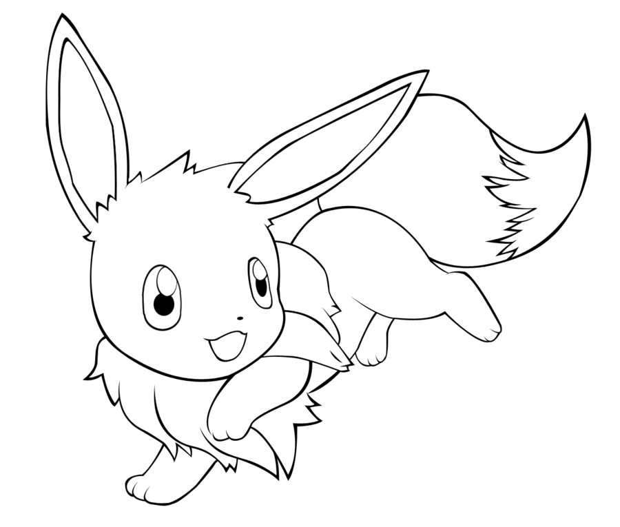 Eevee line art by Pikachu1092