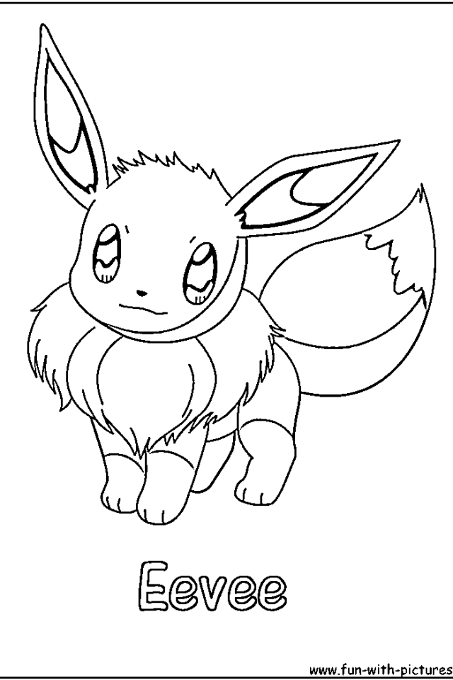 eevee coloring pages coloring home