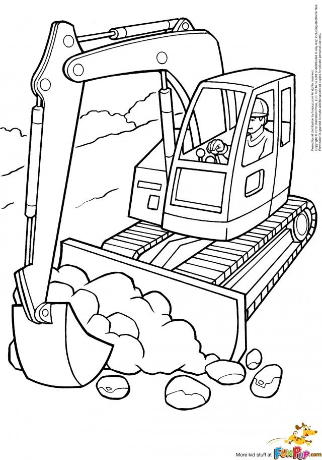 free construction vehicles coloring pages - photo#18