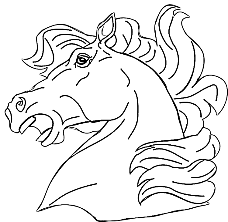 coloring pages horse head - photo#19